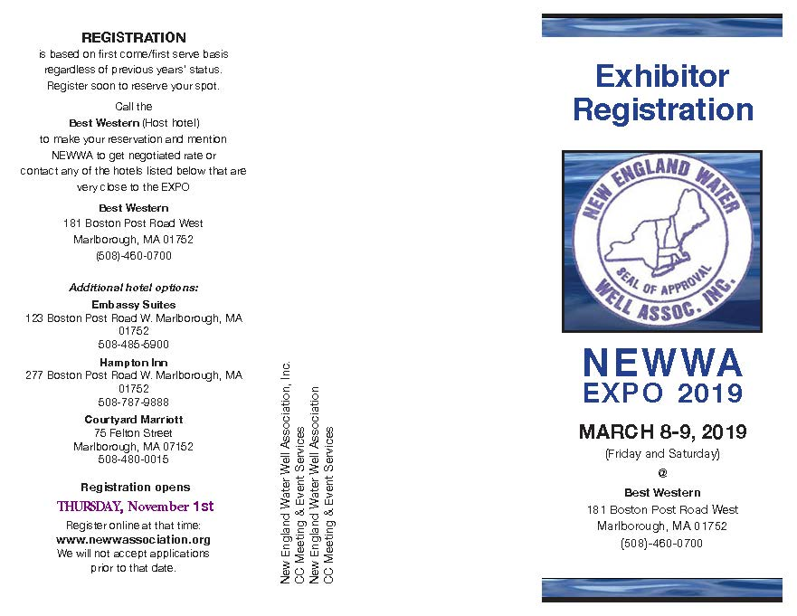 New England Water Well Association - Exhibitors
